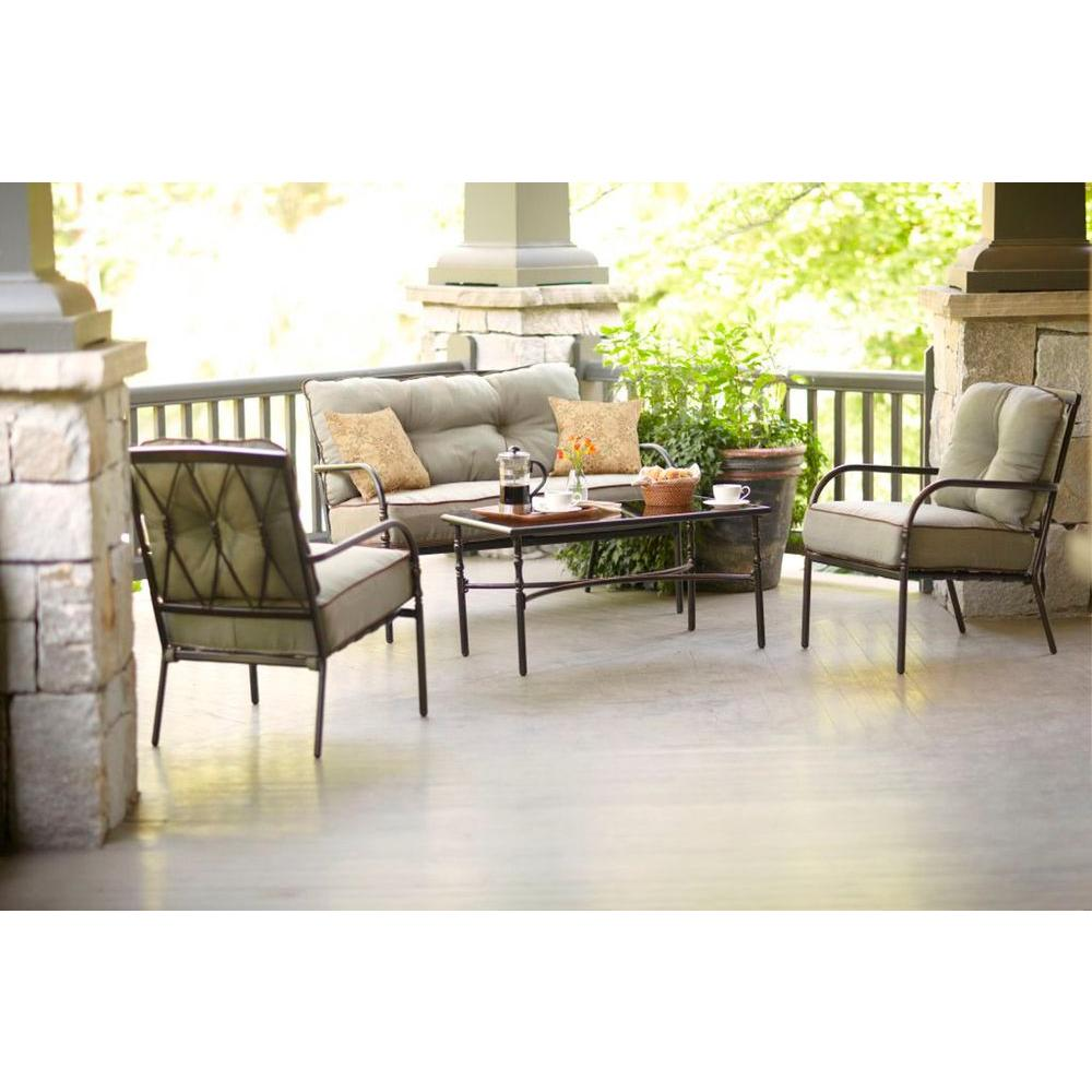 Martha Stewart Living Pacifica Collection 4-Piece Patio Chat Set-DISCONTINUED