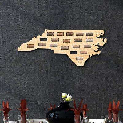 23.3 in. x 9.7 in. North Carolina Wine Cork Map