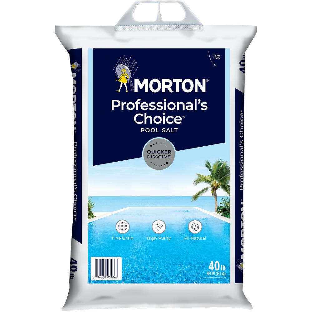 Morton Salt 40 lbs. Professional's Choice Pool Salt