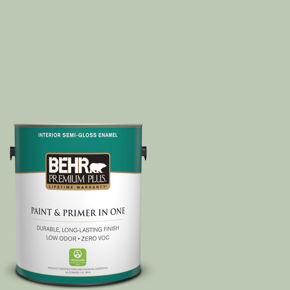 1-gal. #440E-3 Topiary Tint Zero VOC Semi-Gloss Enamel Interior Paint