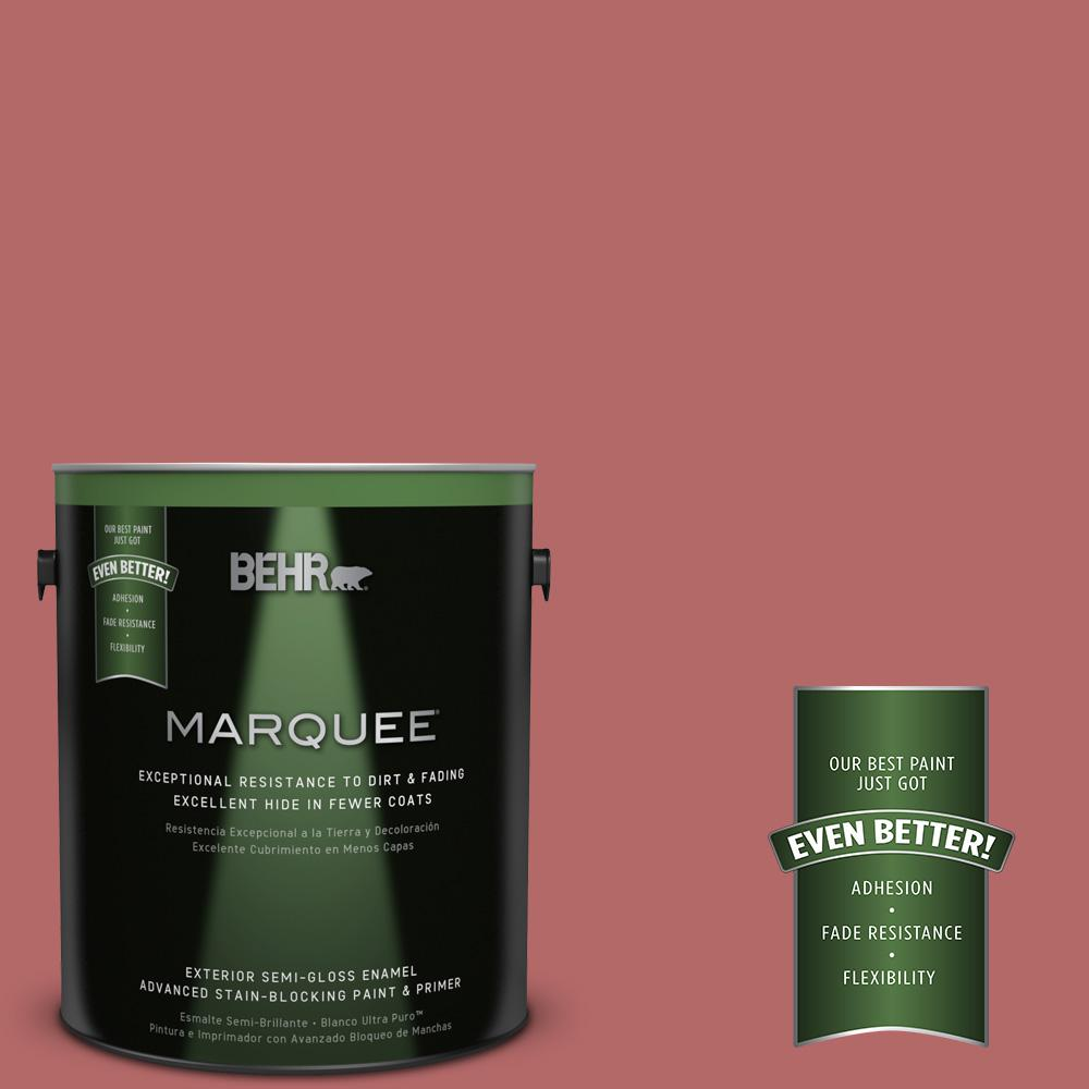 BEHR MARQUEE 1-gal. #PMD-12 Desert Rose Semi-Gloss Enamel Exterior Paint