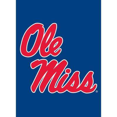 NCAA 12-1/2 in. x 18 in. Ole Miss 2-Sided Garden Flag