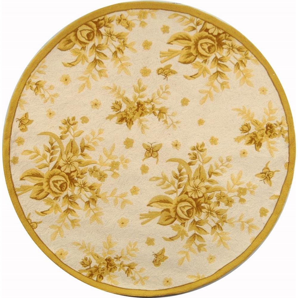 Chelsea Ivory/Gold 4 Ft. X 4 Ft. Round Area Rug