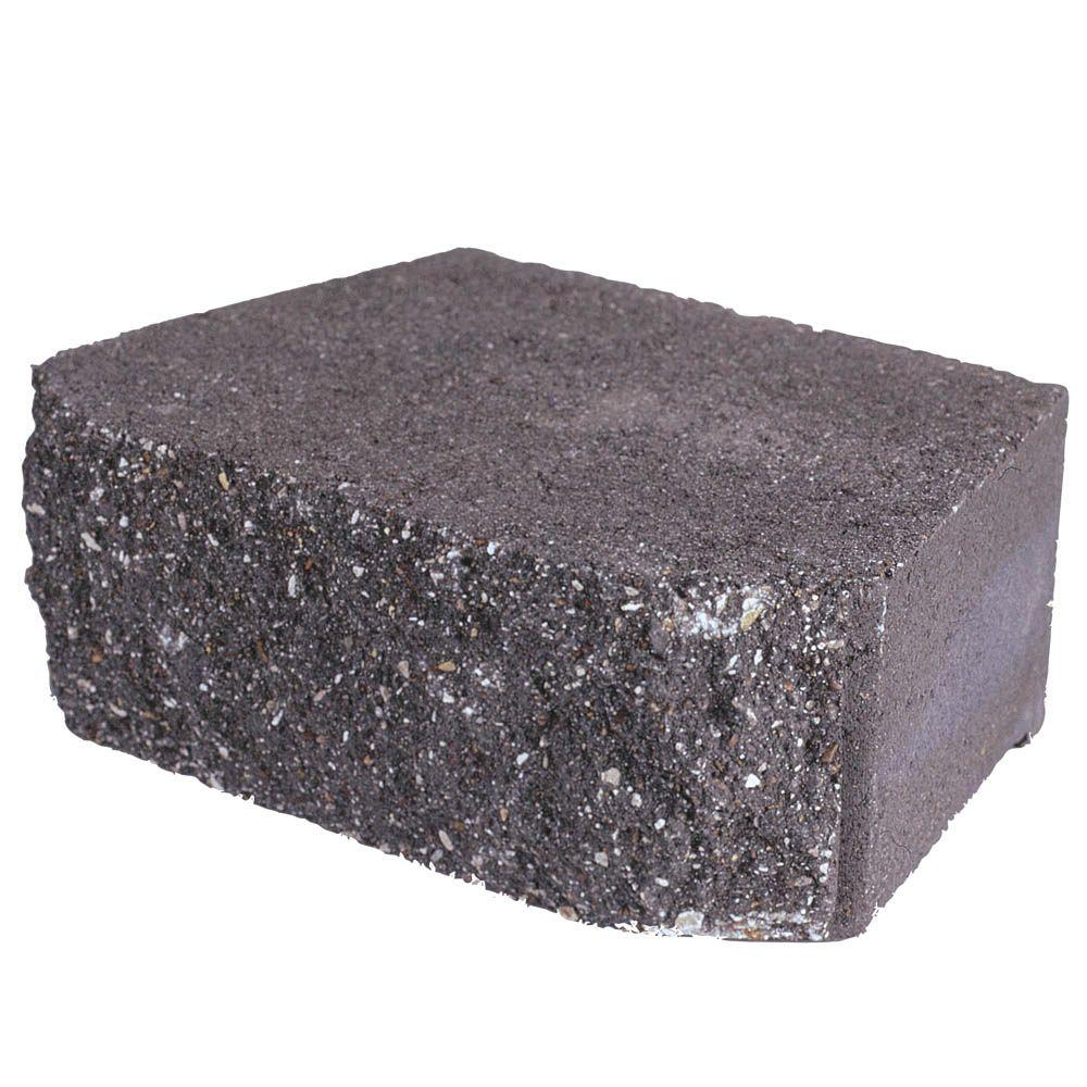 4 in. x 11.75 in. x 6.75 in. Charcoal Concrete Retaining