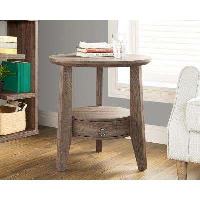 Dark taupe Storage End Table