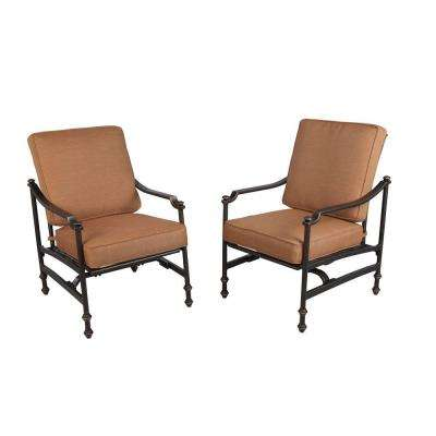 Niles Park Patio Rockers with Cashew Cushions (2-Pack)