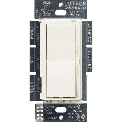 Diva C.L Dimmer Switch for Dimmable LED, Halogen and Incandescent Bulbs, Single-Pole or 3-Way, Biscuit