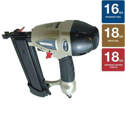 Pneumatic 3-in-1 Stapler/Nailer Tool