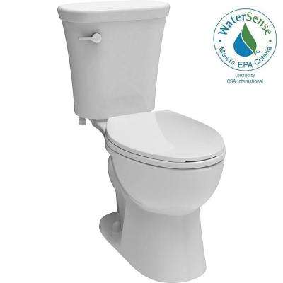 Lilah 2-piece 1.28 GPF Elongated Toilet in White