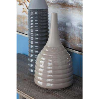 Brown Ceramic Decorative Vase