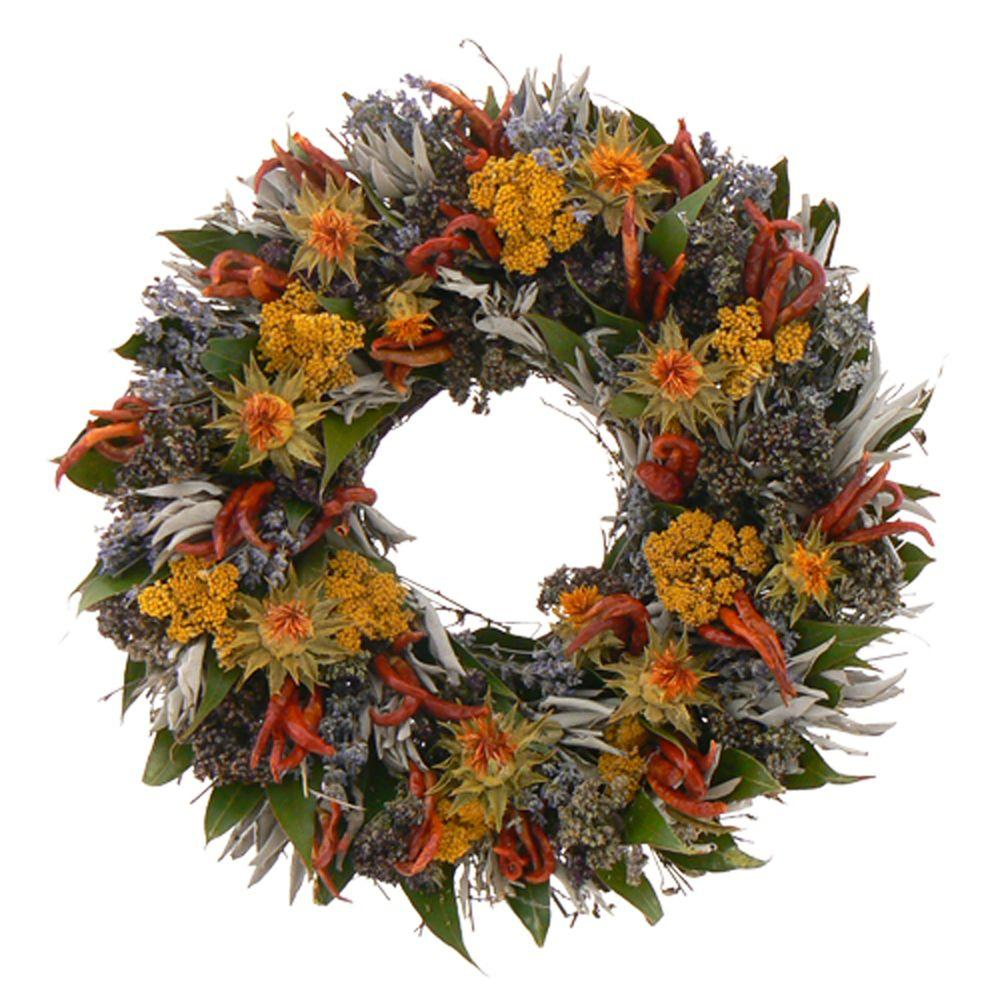 The Christmas Tree Company Kitchen Essentials 16 in. Dried Floral Wreath-DISCONTINUED