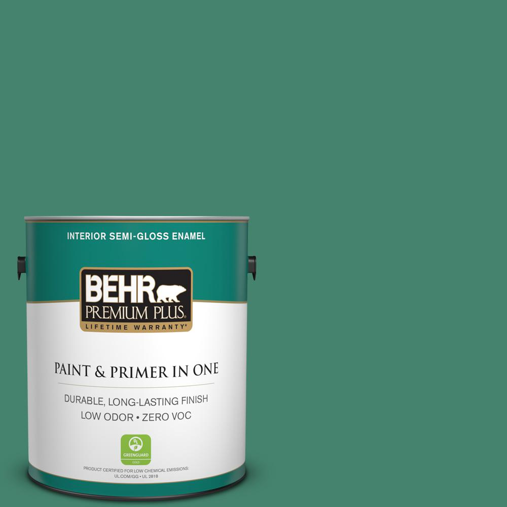 1-gal. #480D-6 Billiard Room Zero VOC Semi-Gloss Enamel Interior Paint