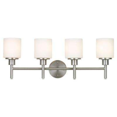 Aubrey 4-Light Brushed Nickel Vanity Light