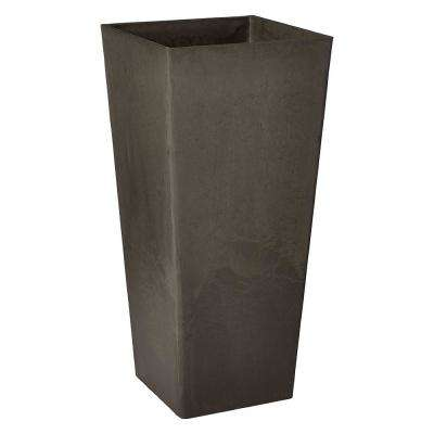 Contempo Tall Square 13 in. x 13 in. x 28 in. Dark Charcoal PSW Pot