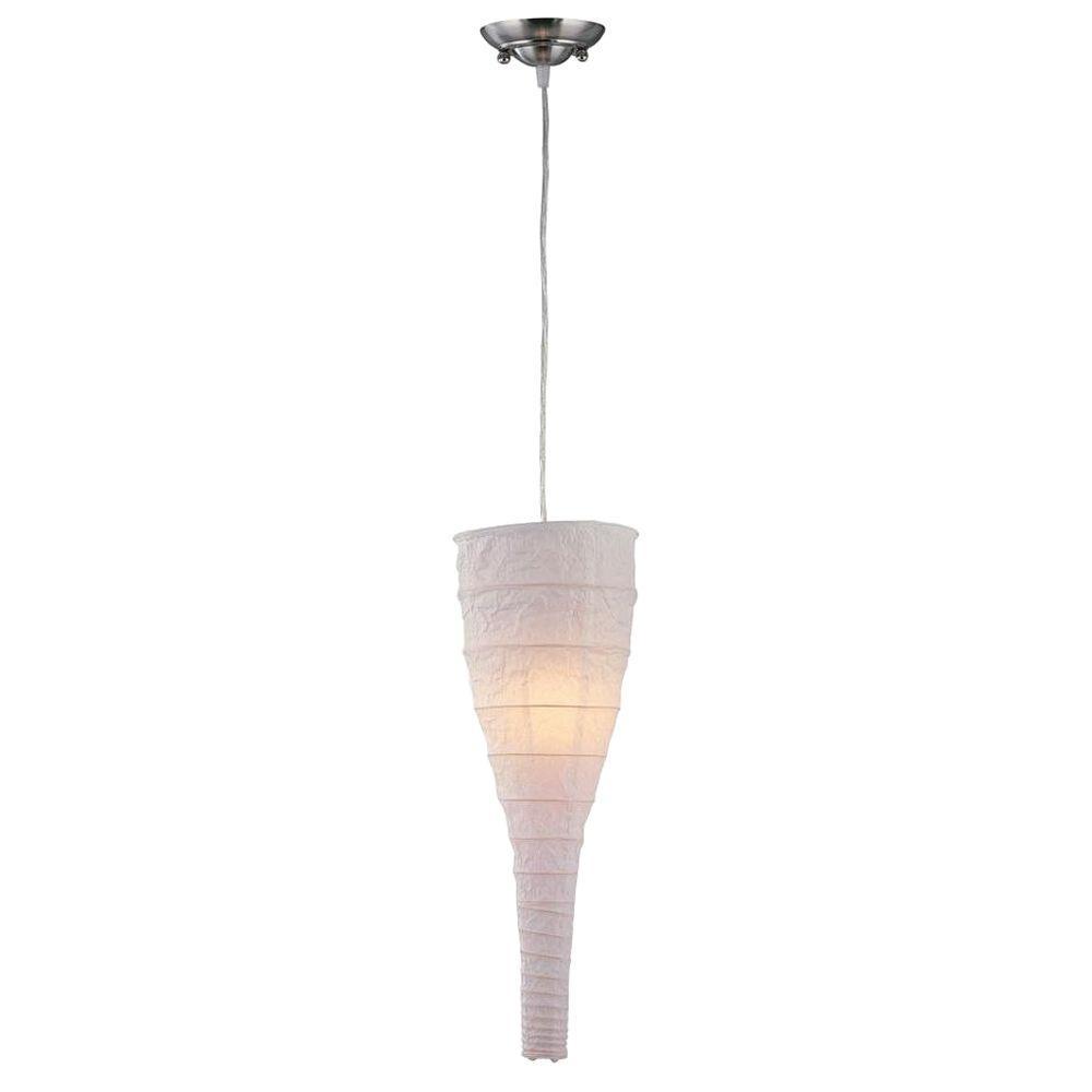 Illumine Designer Collection 1-Light White Pendant