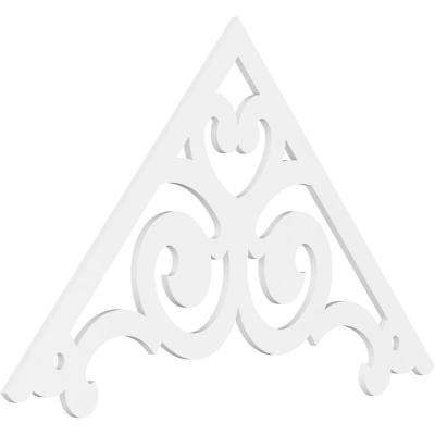 1 in. x 72 in. x 42 in. (14/12) Pitch Hurley Gable Pediment Architectural Grade PVC Moulding