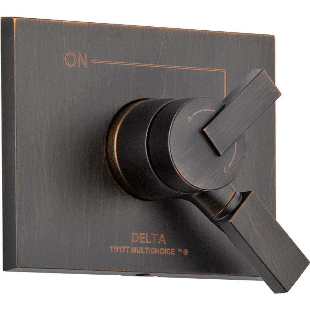 Delta Vero Monitor 17 Series 1-Handle Volume and Temperature Control Valve Trim Kit in Venetian Bronze (Valve Not Included)