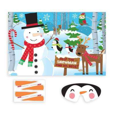 Pin the Nose on the Snowman Christmas Party Game (10-Count 2-Pack)