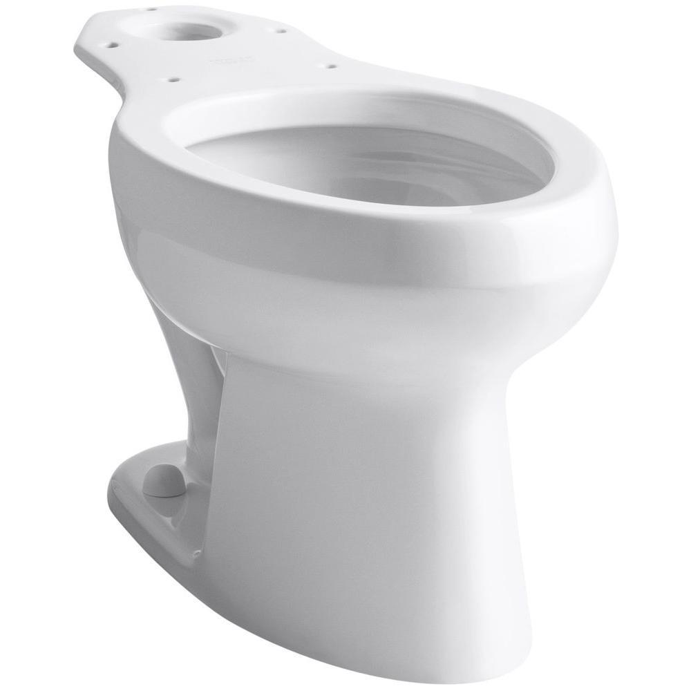KOHLER Wellworth Pressure Lite Elongated Toilet Bowl Only in White