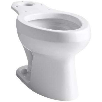 Wellworth Pressure Lite Elongated Toilet Bowl Only in White