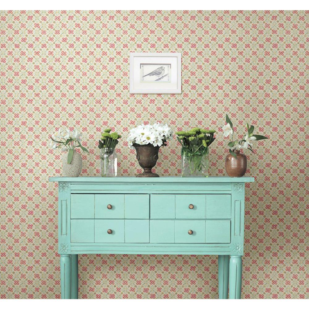Free Spirit Pink Floral Wallpaper
