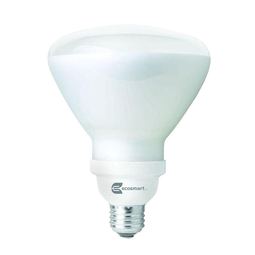 EcoSmart 85W Equivalent Soft White  R40 CFL Flood & Spot Light Bulb (12-Pack)