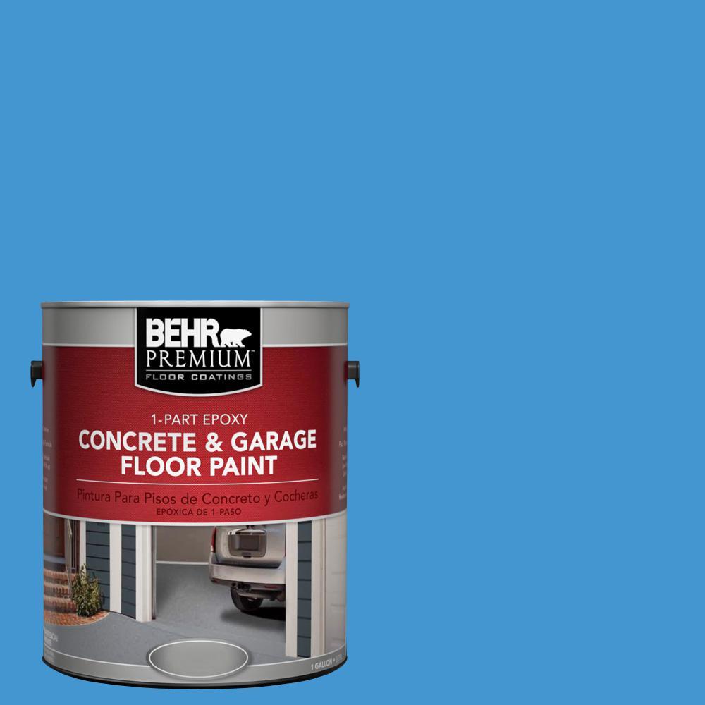 1 gal. #P510-5 Perfect Sky 1-Part Epoxy Concrete and Garage Floor Paint