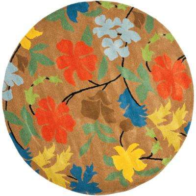 Soho Brown/Multi 8 ft. x 8 ft. Round Area Rug