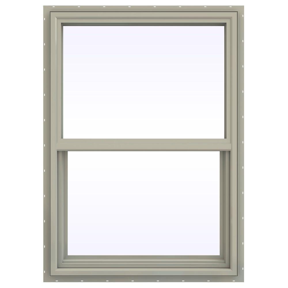 JELD-WEN 29.5 in. x 41.5 in. V-4500 Series Single Hung Vinyl Window - Tan