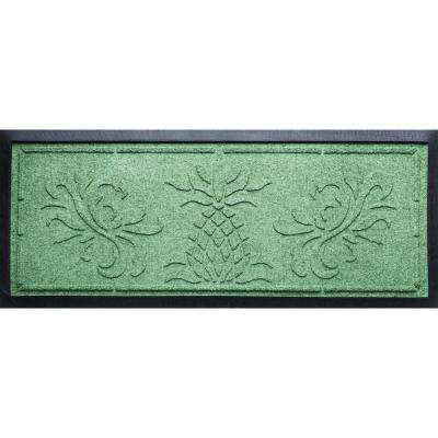 Light Green 15 in.x 36 in. x 0.5 in. Pineapple Boot Tray