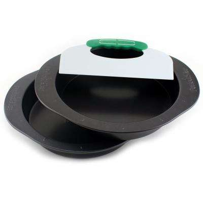 Perfect Slice 3-Piece Carbon Steel Cake Pan Set with Slicing Tool