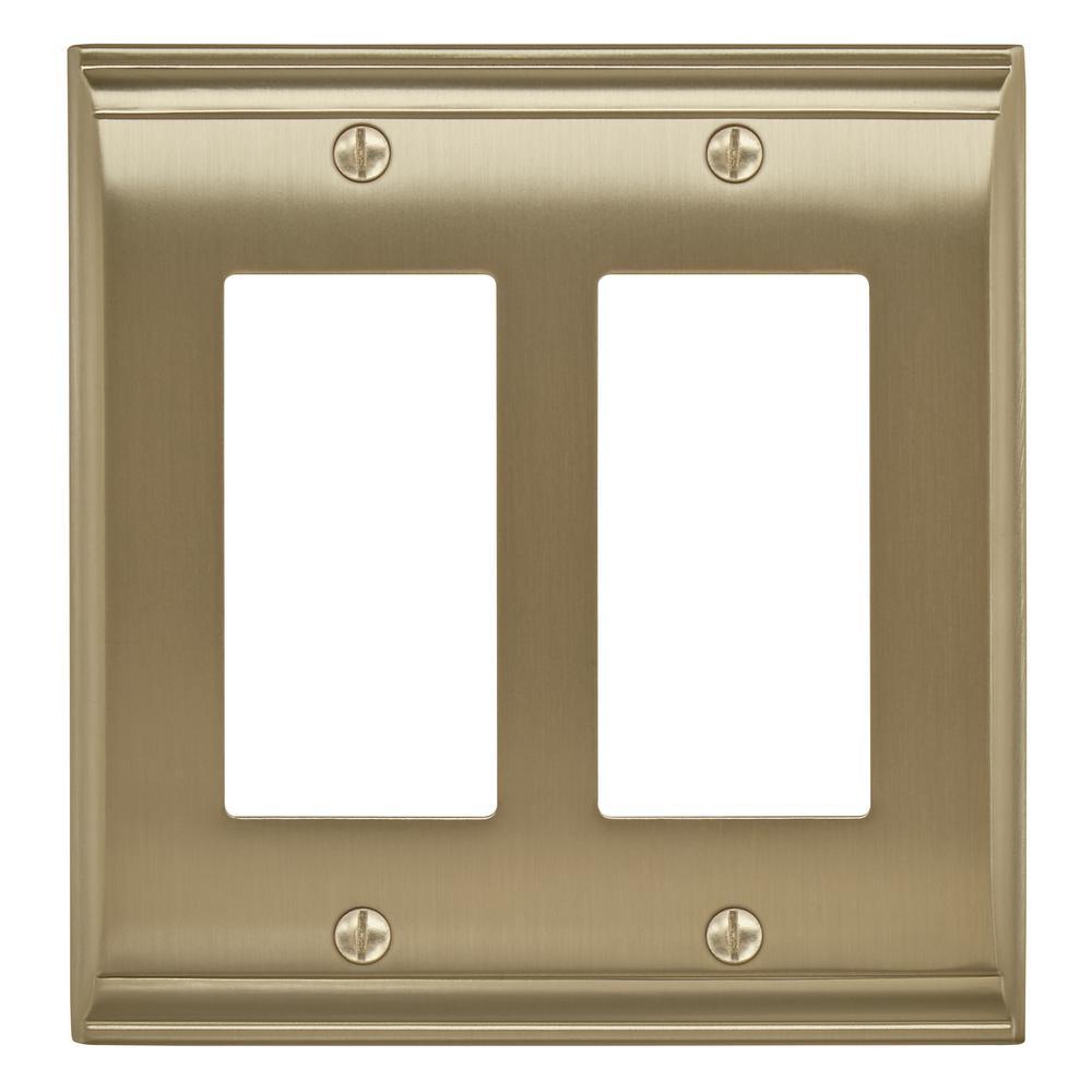 Gold 2-Gang Decorator/Rocker Wall Plate (1-Pack)