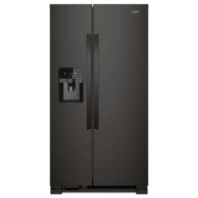 25 cu. ft. Side by Side Refrigerator in Black