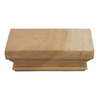 Miterless 4 in. x 4 in. Untreated Wood Flat Slip Over Fence Post Cap