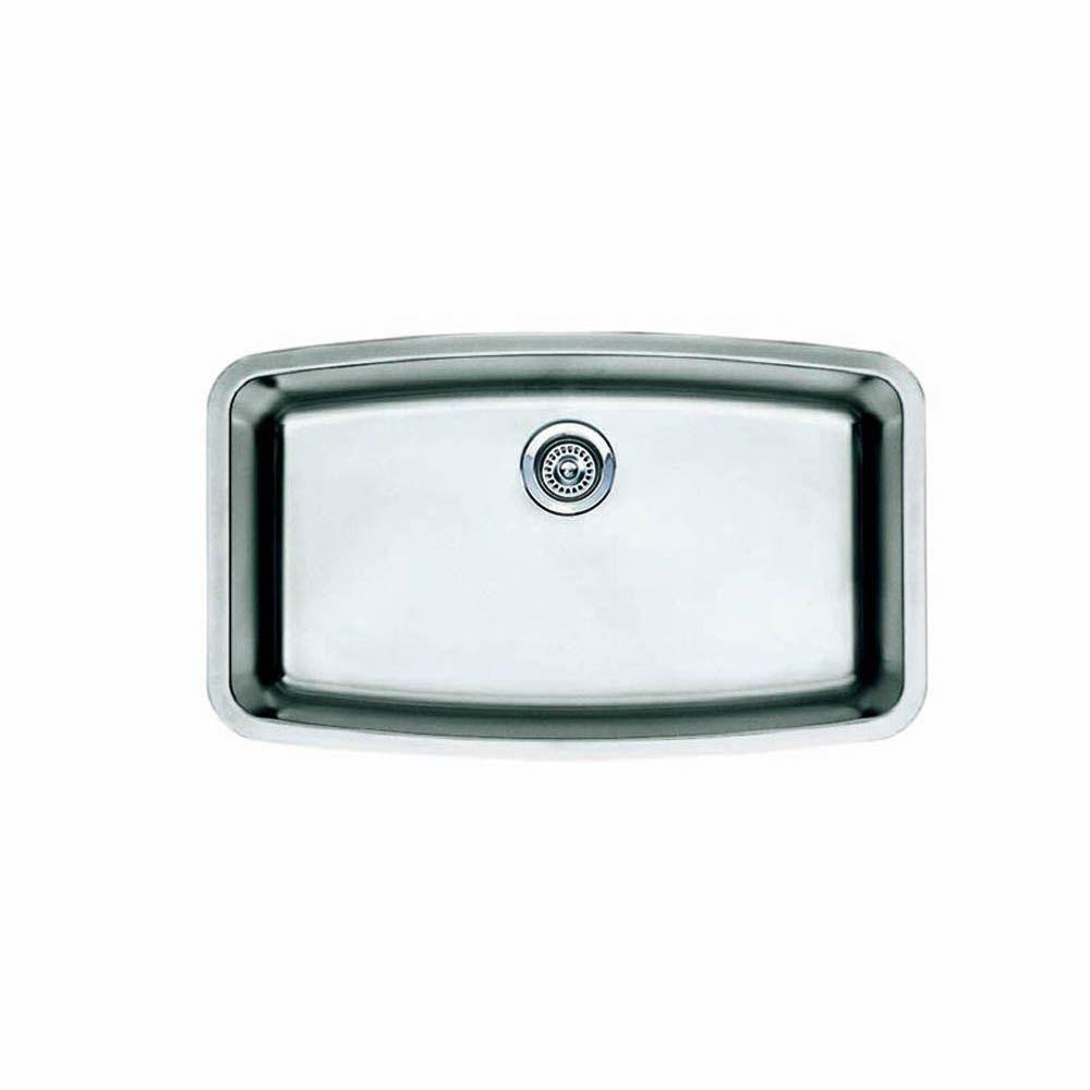 Performa Undermount Stainless Steel 32 in. Super Single Bowl Kitchen Sink