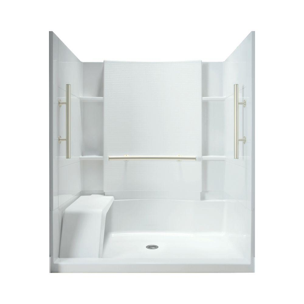 STERLING Accord 36 in. x 60 in. x 74-1/2 in. Shower Stall in White ...