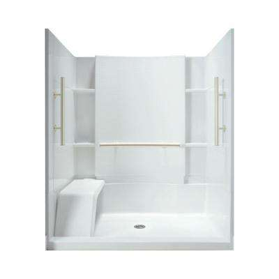 Accord 36 in. x 60 in. x 74-1/2 in. Shower Stall in White