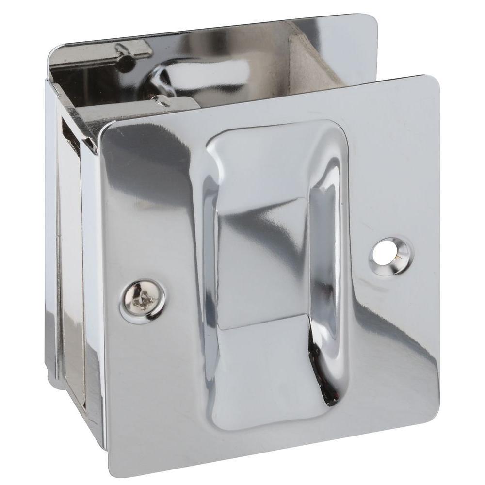 Chrome Pocket Door Pull