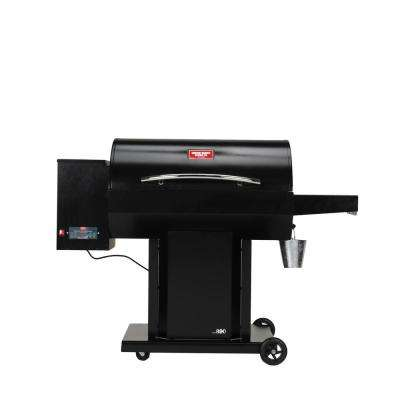 The Irondale USG890 Wood Pellet Grill and Smoker in Black