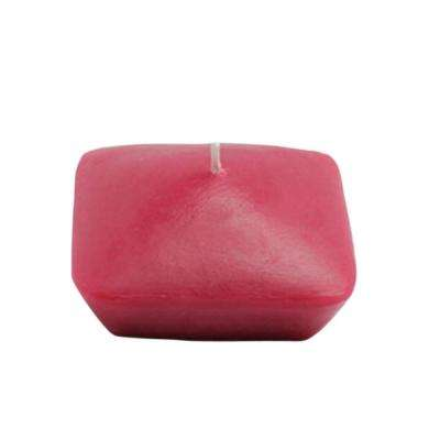 3 in. Red Square Floating Candles (6-Box)