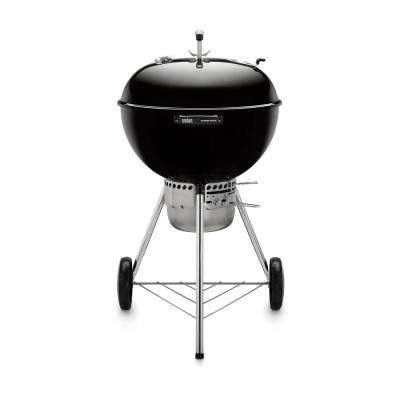 22 in. Master-Touch Charcoal Grill in Black with Built-In Thermometer