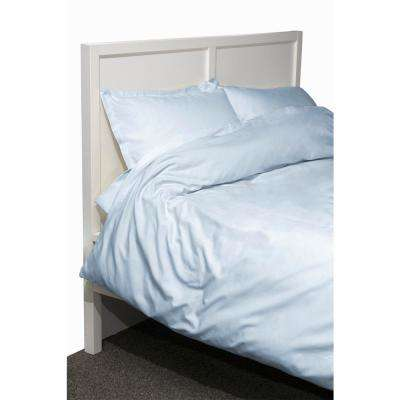 600 Twill 3-Piece Blue Twin Cotton/Polyester Duvet Set