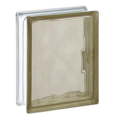 5.75 in. x 7.75 in. x 3.12 in. Bronze Wave Pattern Glass Block (10-Pack)