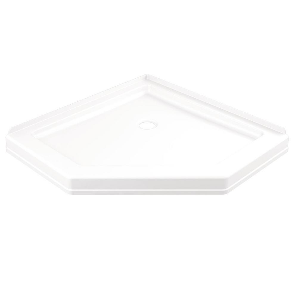 38 25 In X Single Threshold Neo Angle Shower Base White