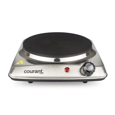 Portable Single Burner 6.1 in. Stainless Steel Hot Plate