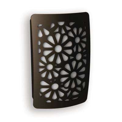 Aged Bronze Floral Decoplug LED Night Light