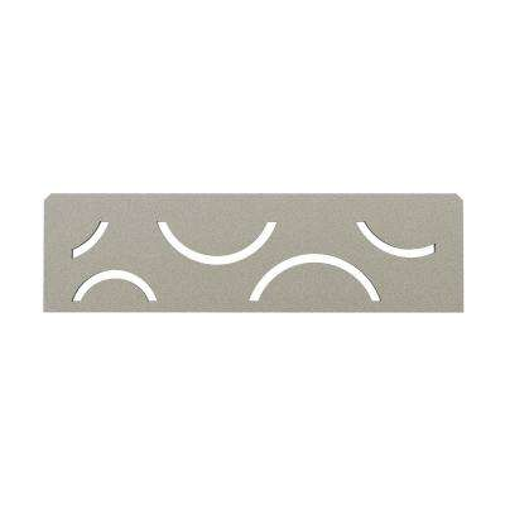 Shelf-N Stone Grey Coated Aluminum Curve Niche Shelf