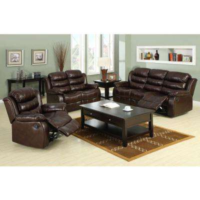 Berkshire Dark Brown Faux Leather Sofa