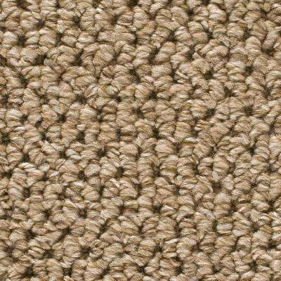 Carpet Sample-Corkwood -Color Tidewater Loop 8 in. x 8 in.