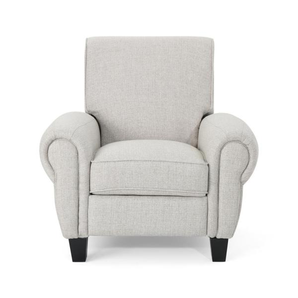 Noble House Del Monte Traditional Beige Fabric Push Back Recliner 306112